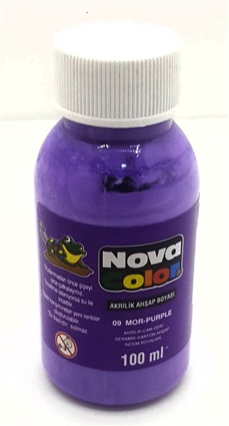 NOVA COLOR 100ml MOR RENK AKRİLİK BOYA
